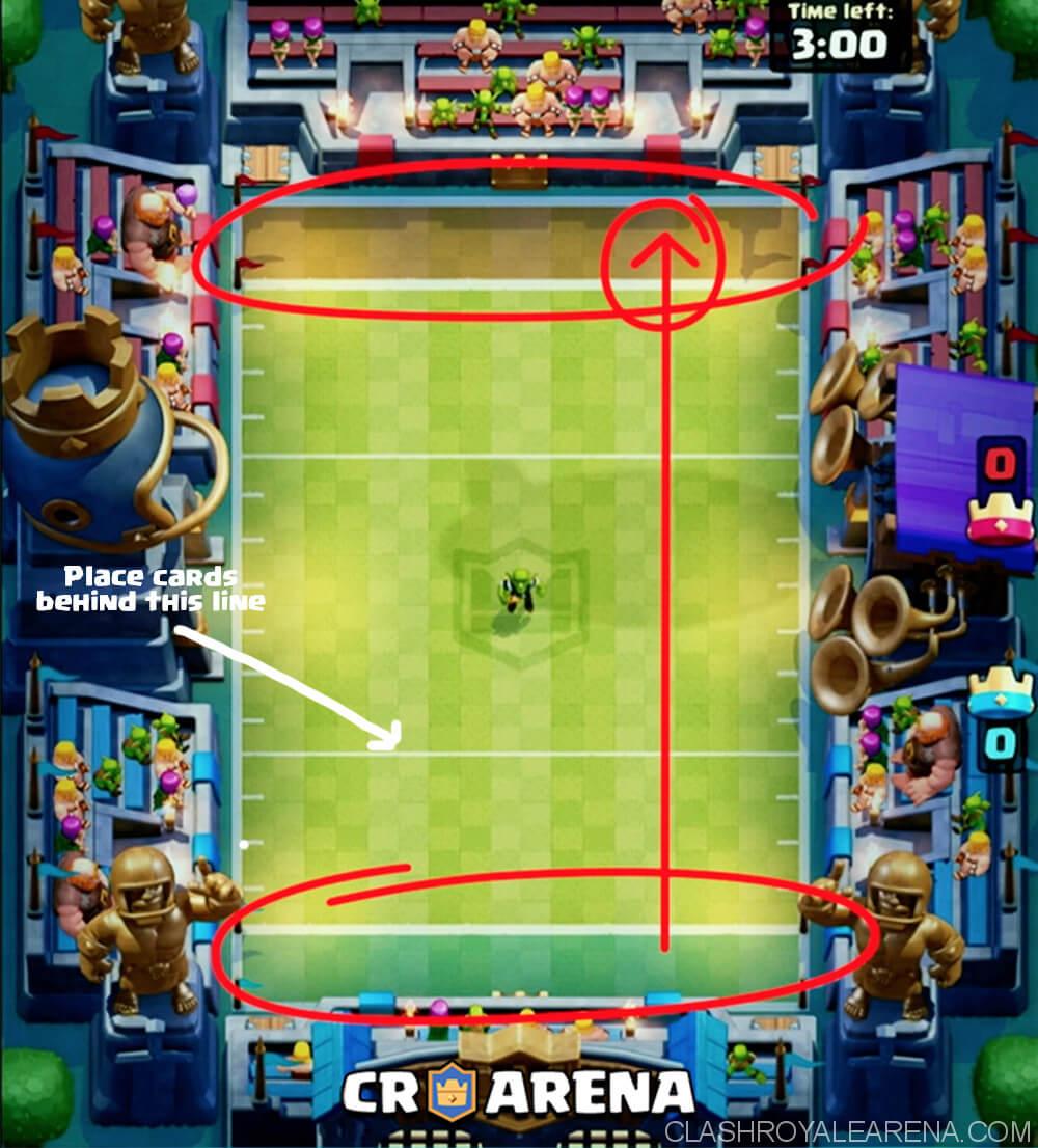 Konflikt royale Touchdown-Modus