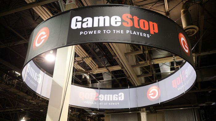 Signage at GameStop Vegas 2013, in