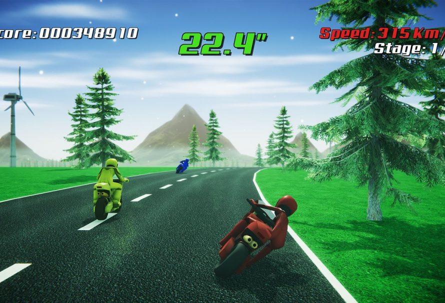 Mit Super Night Riders können Xbox One-Spieler in Großbritannien Motorradrennen im Outrun-Stil genießen