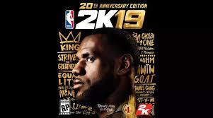 LeBron James Gets 'NBA 2K19 20th Anniversary Edition' Cover